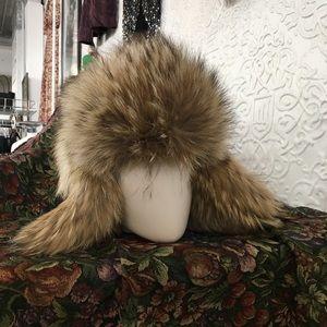 New Coach Coyote Fur Trapper Hat